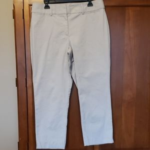 Twill ankle length pants